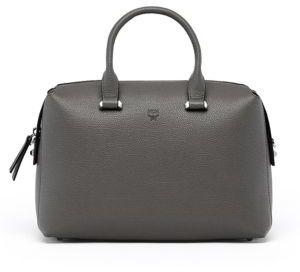 MCMMCM Ella Boston Leather Bowler Bag