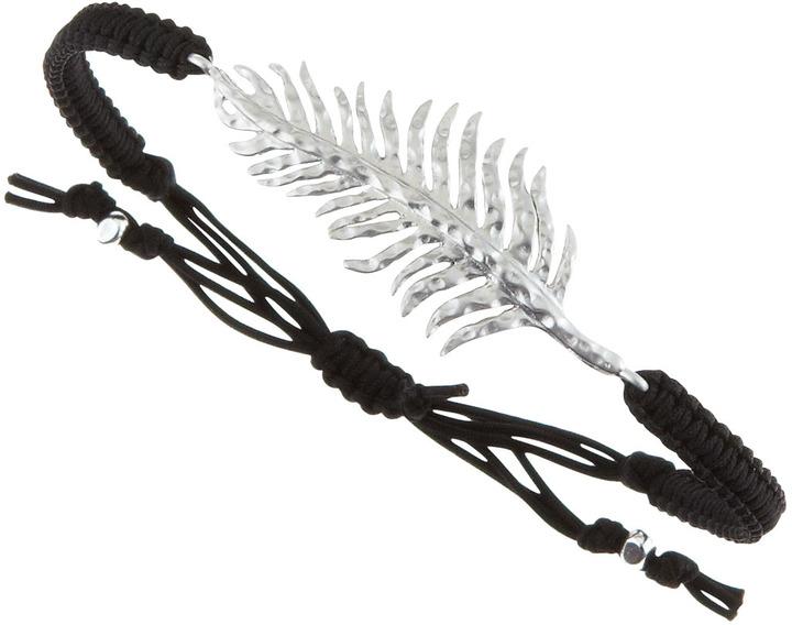 Tai Silver Feather Drawstring Bracelet