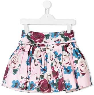 Simonetta rose print skirt