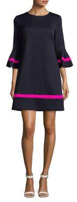 Eliza J Bell-Sleeve Quilted Dress