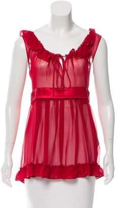 Dolce & Gabbana Silk Sheer Blouse w/ Tags