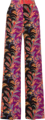 Etro - Paisley-print Silk Crepe De Chine Wide-leg Pants - Coral $1,060 thestylecure.com