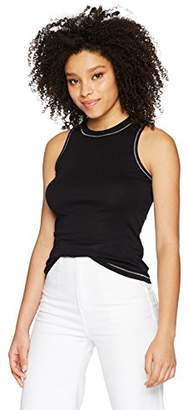 Michael Stars Women's Supima Halter Tank with Contrast Stitching