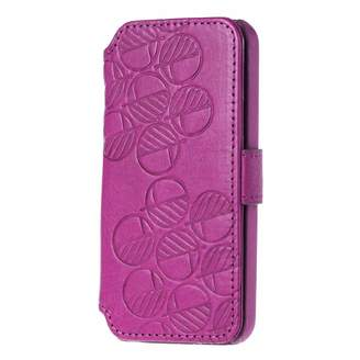 Drew Lennox iPhone SE 5 5S Luxury English Leather Phone Wallet with 3 Card Slots in Fuchsia Pink