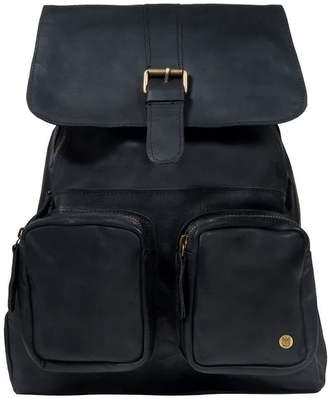 Mahi Leather Leather Roma Backpack Rucksack In Ebony Black
