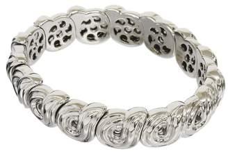 Boucheron 18K White Gold Design Bangle Bracelet