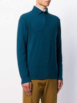 N.Peal knitted polo shirt