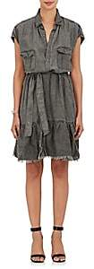 NSF Women's Frayed-Skirt Canvas Dress - Black