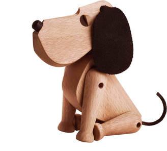 Architectmade Oscar Beech & Leather Dog Model