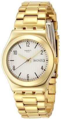 Swatch Women's YLG700G Analog Display Swiss Quartz Gold Watch