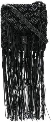 Saint Laurent long fringe satchel bag
