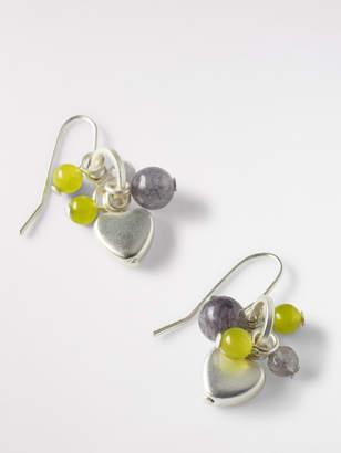 White Stuff Colour Heart Cluster Earring