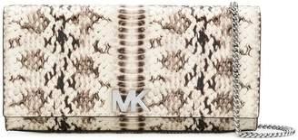 MICHAEL Michael Kors Mott snake-embossed clutch