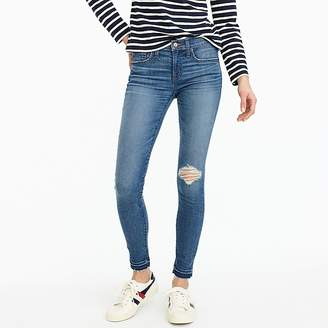 "J.Crew Petite 8"" toothpick jean in Newcastle wash with let-down hem"
