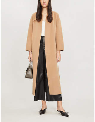 BA&SH Day brushed wool-blend coat