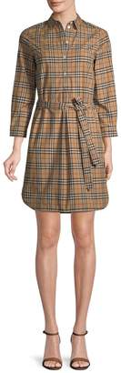 Burberry Women's Plaid Shirtdress