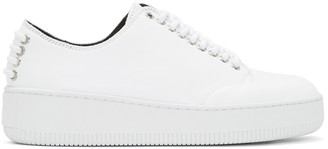 McQ Alexander McQueen White Netil Eyelet Sneakers $350 thestylecure.com