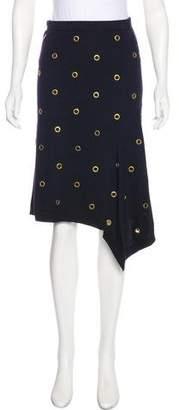 Tory Burch Embellished Merino Wool Skirt