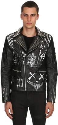 Burton Mjb - Marc Jacques Corium Iii Hand-Painted Leather Jacket
