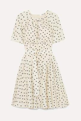 Diane von Furstenberg Belted Polka-dot Silk Dress