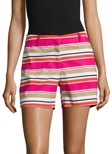 MICHAEL Michael Kors Michael Kors Striped Cotton-Stretch Shorts