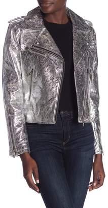 Blank NYC BLANKNYC Denim Metallic Moto Jacket