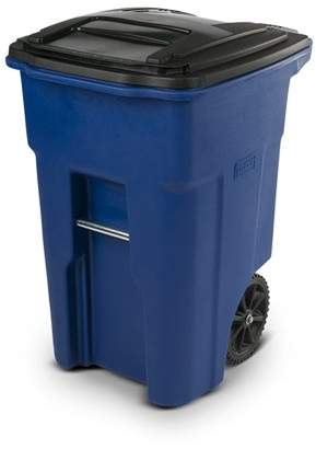 Toter 48 Gallon Trash Can Blue with Wheels and Lid