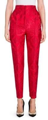 Dolce & Gabbana Crown Jacquard Slim Pants