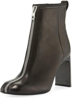 Rag & Bone Ellis Zip-Front Leather Ankle Boot