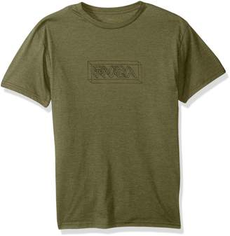 RVCA Young Men's Perspective Vintage Dye Tee Shirt, -, L