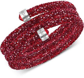 Swarovski Stainless Steel Crystal Rock Triple-Wrapped Bangle Bracelet