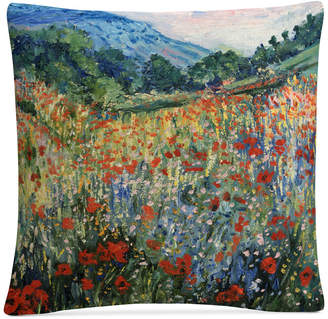 "Trademark Global Masters Fine Art Field of Wild Flowers 16"" x 16"" Decorative Throw Pillow"