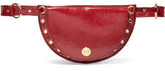 See by Chloe Kriss Eyelet-embellished Patent Textured-leather Belt Bag - Burgundy