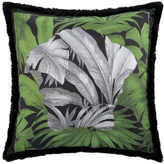 Versace Depalma Reversible Silk Cushion - 50x50cm - Green