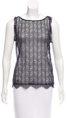 Tamara Mellon Crochet Sleeveless Top w/ Tags
