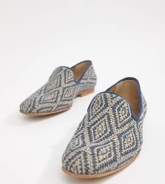 Asos Design DESIGN loafers in navy diamond print