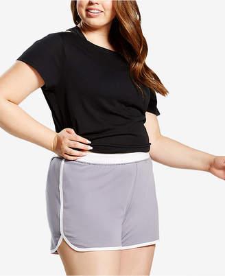 Soffe Curves Plus Size Dolphin-Hem Shorts