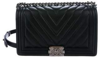 Chanel 2016 Chevron Medium Plus Boy Bag