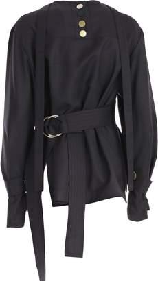 Eudon Choi Camicia M/l Con Cintura Wool