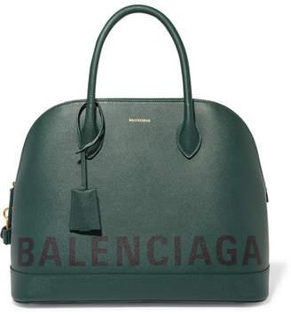 Balenciaga Ville Printed Textured-leather Tote - Green