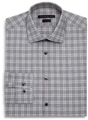 John Varvatos Mélange-Plaid Slim Fit Dress Shirt