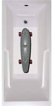 No Slip Mat by Versatraction Carve Skateboard Bath Tub and Shower Mat