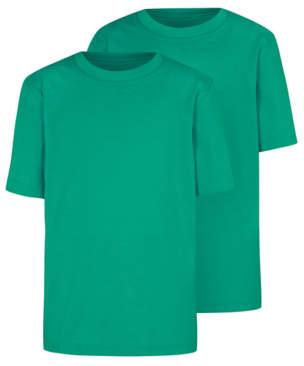 George Jade Green Crew Neck School T-Shirt 2 Pack