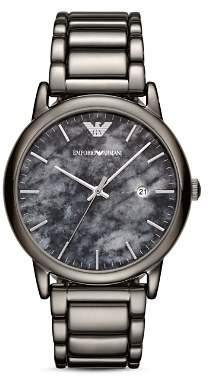 Giorgio Armani Gray Stainless Steel Watch, 43mm