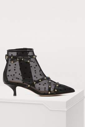 RED Valentino Sheer polka dot pointed booties