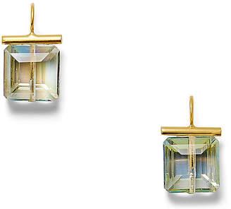 Catherine Canino 14-Kt Swarovski Crystal Earrings - Sea-Green