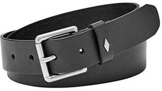 Fossil 'Diamond Keeper' Leather Belt $38 thestylecure.com