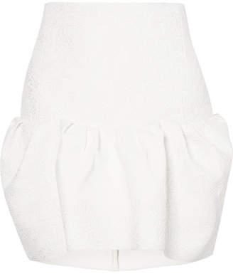 Chloé Jacquard Peplum Mini Skirt - Cream