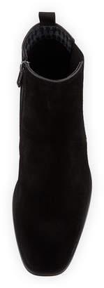 Karl Lagerfeld Paris Men's Suede Chelsea Ankle Boots