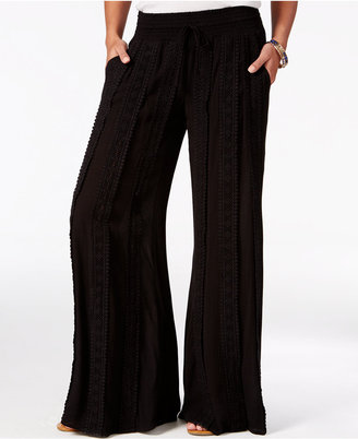 American Rag Crocheted Wide-Leg Pants, Only at Macy's $49.50 thestylecure.com